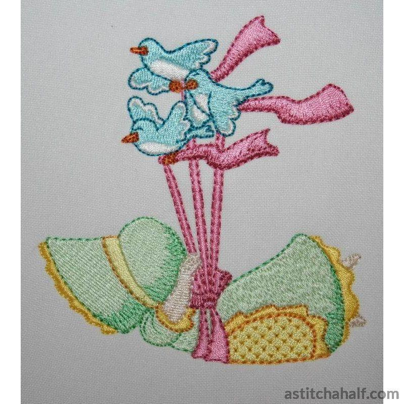 Flying Miss Bonnet - a-stitch-a-half