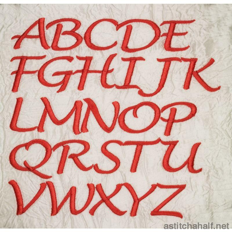 Font Lucinda Handwriting Capital Letters - a-stitch-a-half