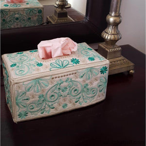 Forest Song Tissue Box Cover - a-stitch-a-half