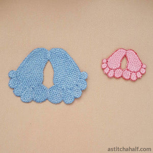 Freestanding Lace Baby Feet - a-stitch-a-half