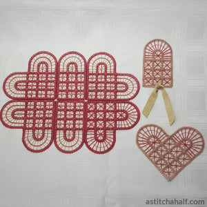 Freestanding Lace Battenburg Place Mat Variety - astitchahalf