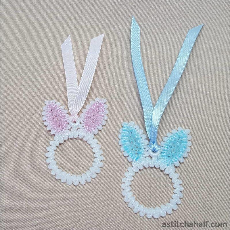 Freestanding Lace Bunny Earrings - astitchahalf