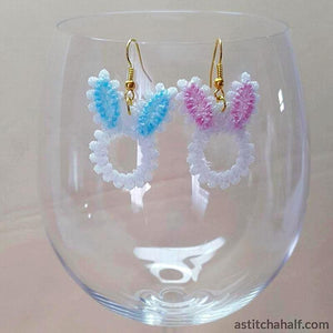 Freestanding Lace Bunny Earrings - a-stitch-a-half