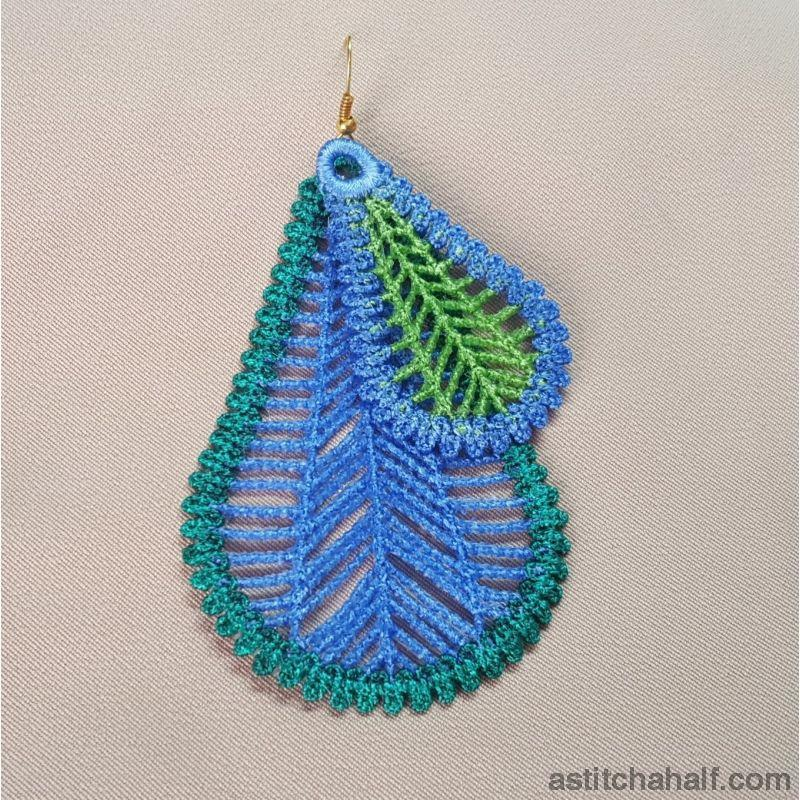 Freestanding Lace Feather Jewels - a-stitch-a-half