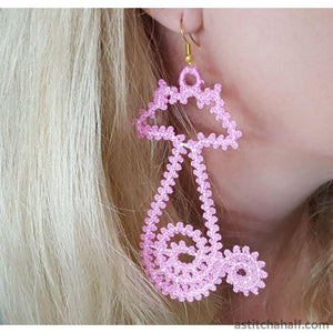 Freestanding Lace Feline Earrings
