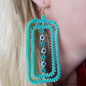 Freestanding Lace Framed Earrings - a-stitch-a-half