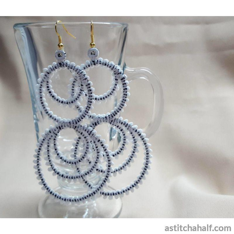 Freestanding Lace Hula Hoop Earrings