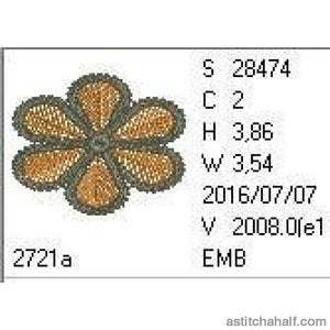 Freestanding Lace Island Jewels - a-stitch-a-half