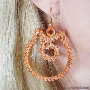 Freestanding Lace Kitty Earrings - a-stitch-a-half