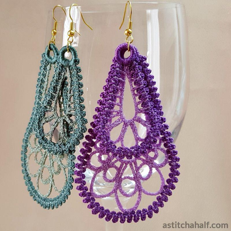 Freestanding Lace Loop Earrings
