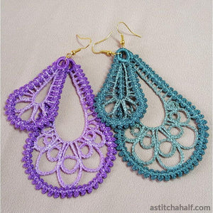 Freestanding Lace Loop Earrings - a-stitch-a-half