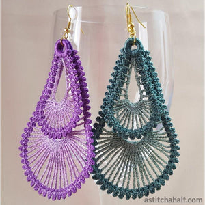 Freestanding Lace Lunar Loop Earrings