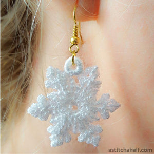 Freestanding Lace Snowflake Earrings