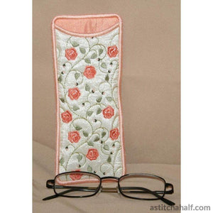 French Rose Eyeglass Cases - a-stitch-a-half