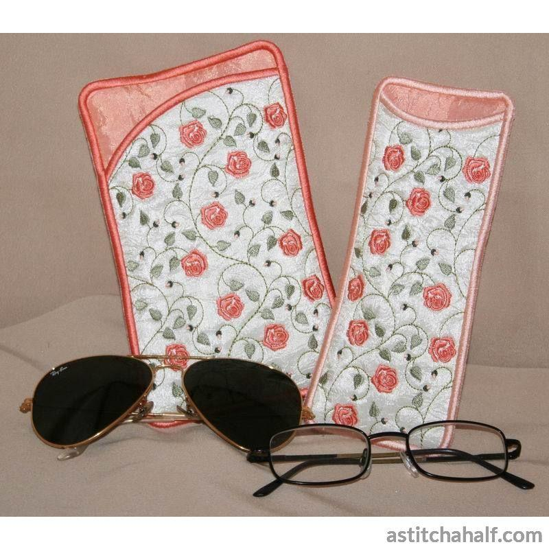 French Rose Eyeglass Cases All In The Hoop