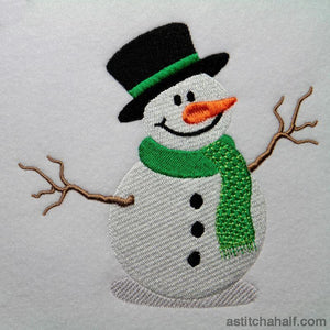 Frosty Snowman Embroidery Fill