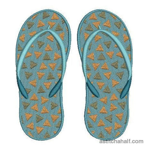 Fun Flip Flops Embroidery Fill