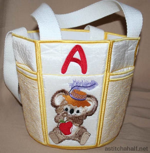 Fuzzy Bucket Tote Abc Bag