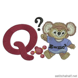 Fuzzy Letter Q Embroidery Fill