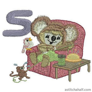 Fuzzy Letter S Embroidery Fill