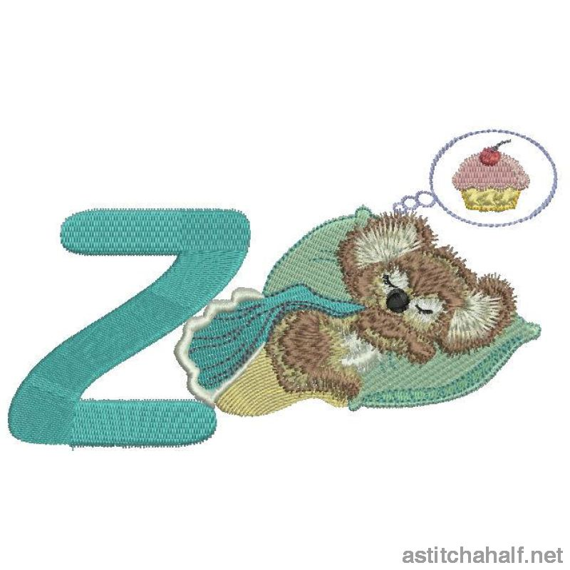 Fuzzy Letter Z Embroidery Fill