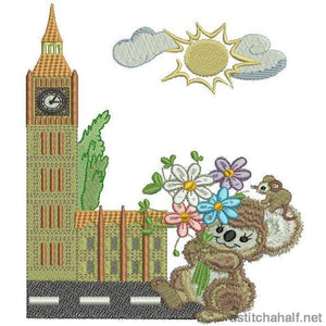 Fuzzy London Combo Applique