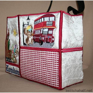 Fuzzy London Tote Bag - a-stitch-a-half