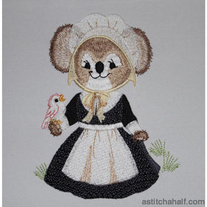 Fuzzy Martha Embroidery Fill