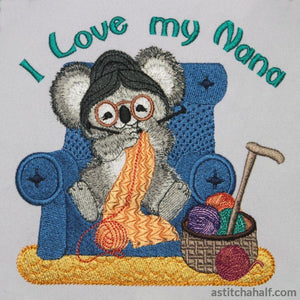 Fuzzy Nana Embroidery Fill