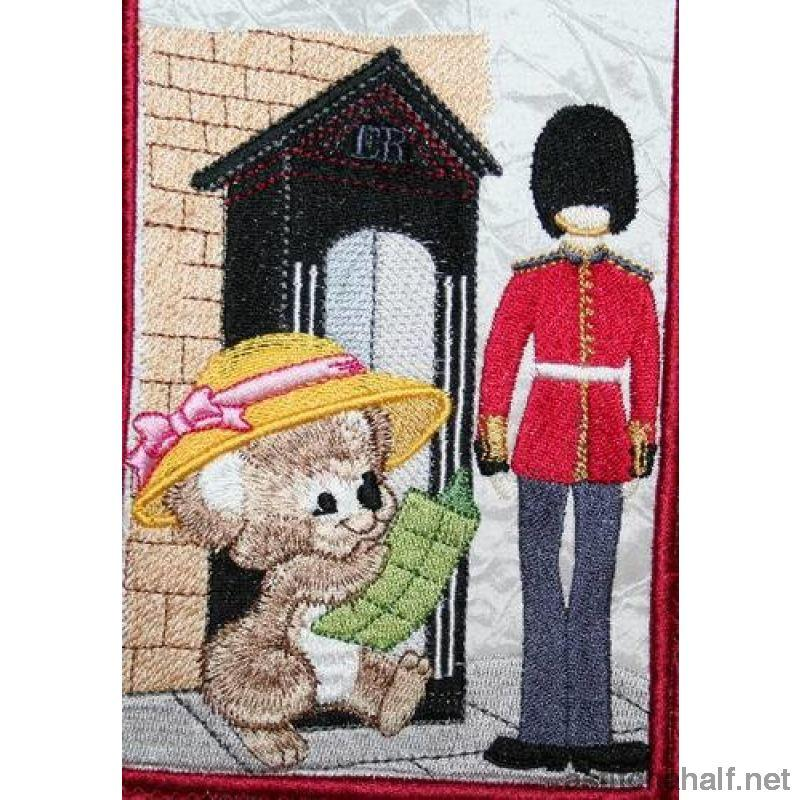 Fuzzy Olivia At Buckingham Palace Embroidery Fill