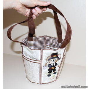 George and Martha Fuzzy Bucket Tote - a-stitch-a-half