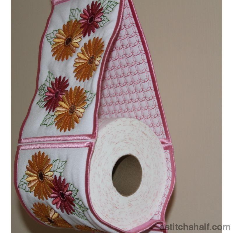Gerbera Toilet Roll Holder Applique