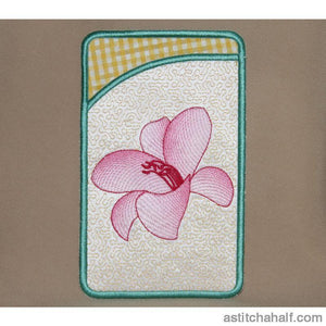 Gossamer Lily Pocket And Flowery Design All In The Hoop