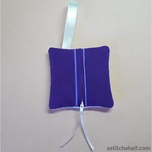Grape Season Bag with ITH Zipper - a-stitch-a-half