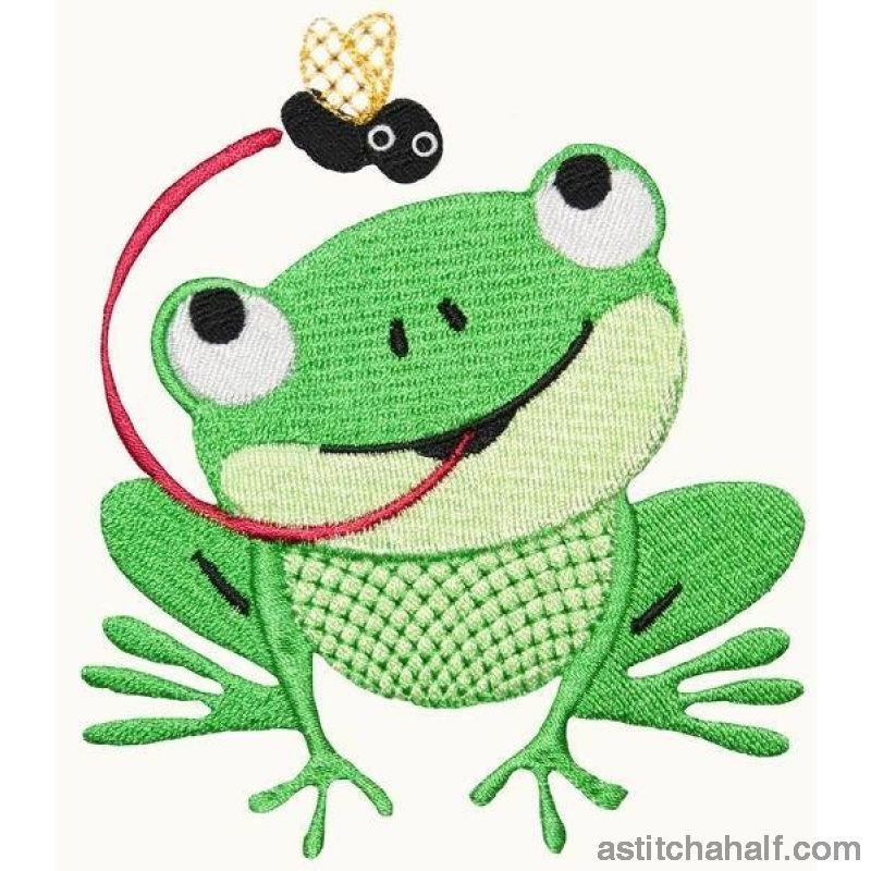Harold Hungry Frog Embroidery Fill