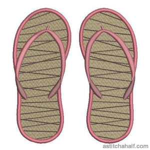 Hawaiian Flip Flops Embroidery Fill