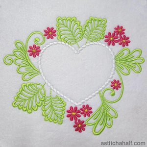 Heart Bag With In The Hoop Zipper - a-stitch-a-half