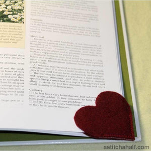 Heart bookmark - a-stitch-a-half