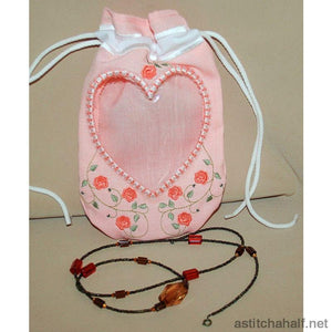 Heart Peek A Drawstring Bag All In The Hoop