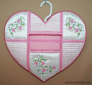 Heart Peg Bag Applique