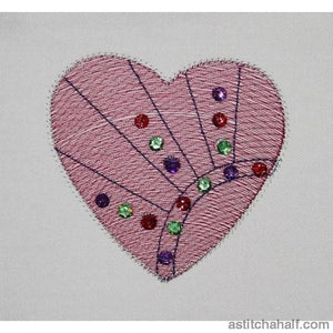 Hearty Party Embroidery Fill