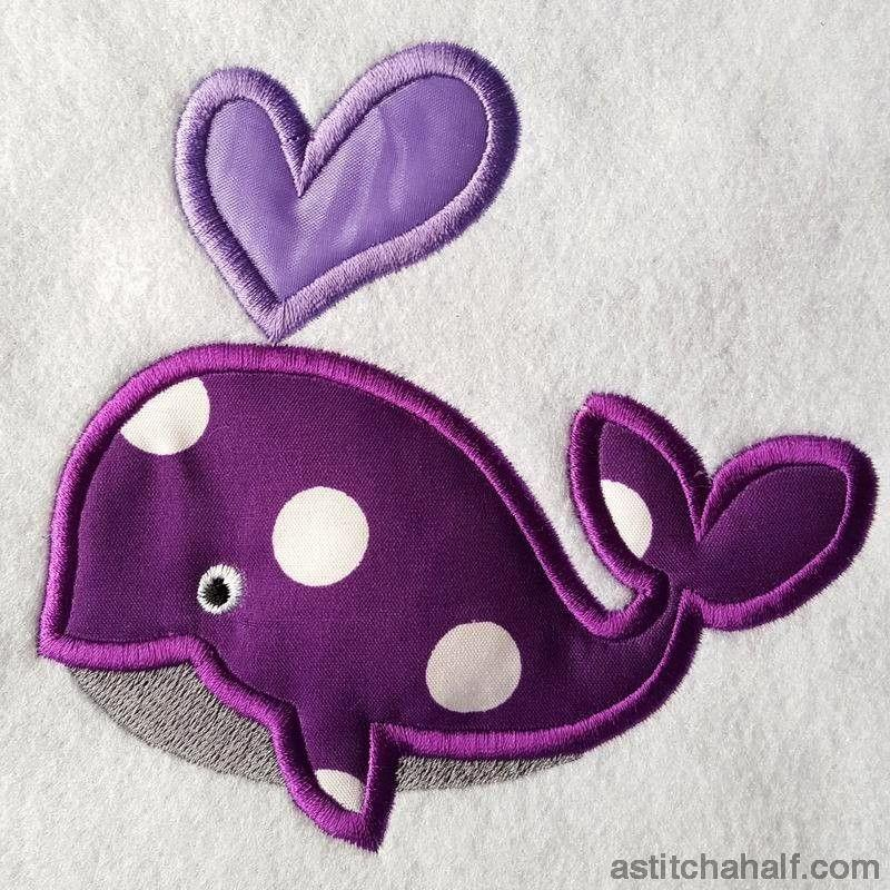 Hearty Whale Applique