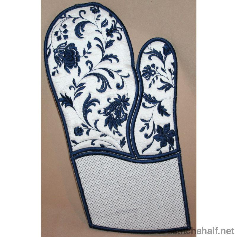 Heirloom Oven Gloves - a-stitch-a-half