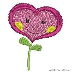Holly Heart Embroidery Fill