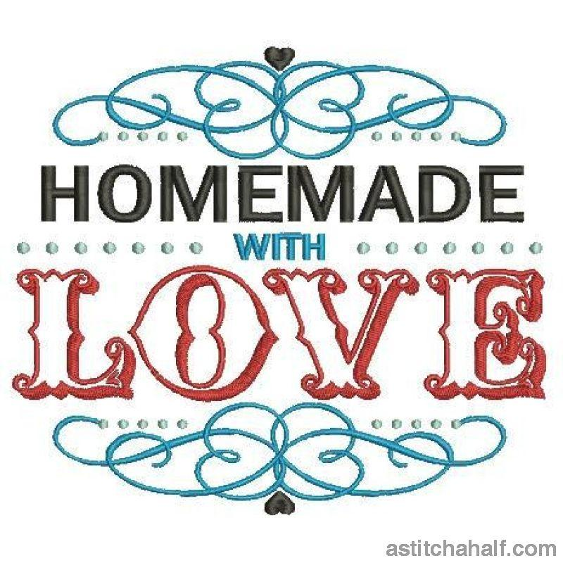 Homemade With Love Embroidery Fill