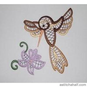 Hummingbird In Harmony Embroidery Fill