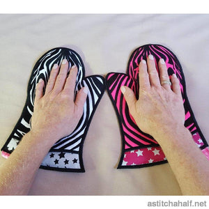 Ith Zebra Oven Glove In The Hoop