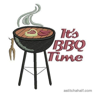 It`s Bbq Time Embroidery Fill