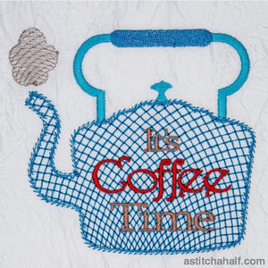 Its Coffee Time Embroidery Fill