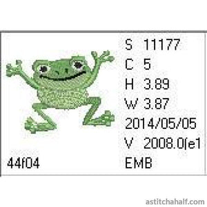Jolly Jumper Frog - a-stitch-a-half